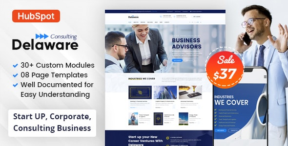 Delaware - Consulting Business HubSpot Theme - Corporate HubSpot CMS Hub