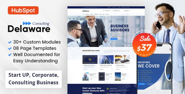 Delaware - Consulting Business HubSpot Theme