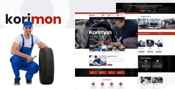 Korimon - Car Repair Responsive HubSpot Theme - Corporate HubSpot CMS