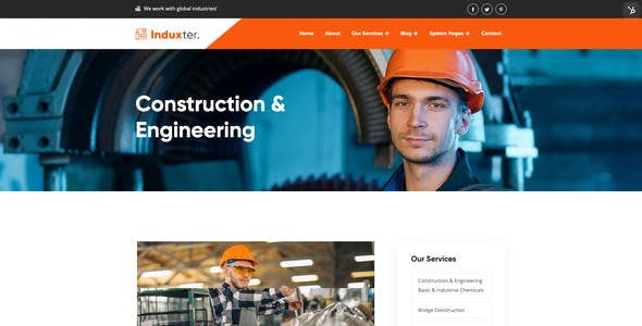 Induxter - HubSpot Theme for Factory and Industry