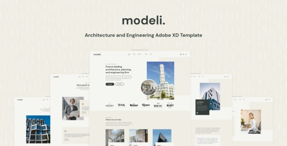 Modeli - Architecture and Engineering Adobe XD Template - Business Corporate