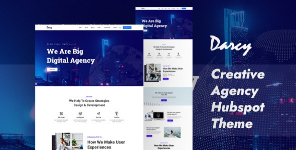 Darcy Digital Agency Hubspot Theme - Creative HubSpot CMS Hub