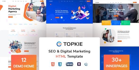 Topkie - SEO Marketing HTML Template - Marketing Corporate