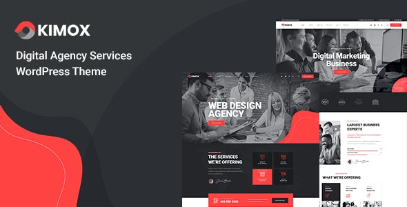Kimox - Digital Agency Services WordPress Theme - Business Corporate