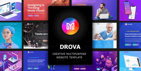 Drova - Creative Multipurpose Onepage Template - Business Corporate