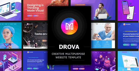 Drova - Creative Multipurpose Onepage Template