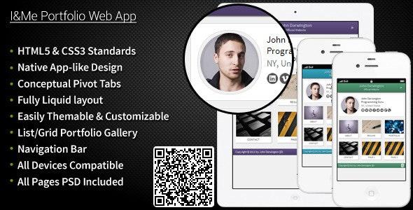 I&Me Portfolio Web App - Mobile Site Templates