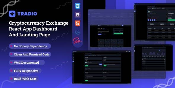 Tradio - Cryptocurrency Exchange Dashboard Laravel Template