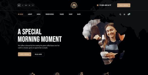 Cafena - Coffee Shop PSD Template