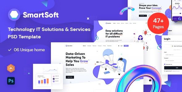 SmartSoft - Technology IT Solutions & Services PSD template - Business Corporate