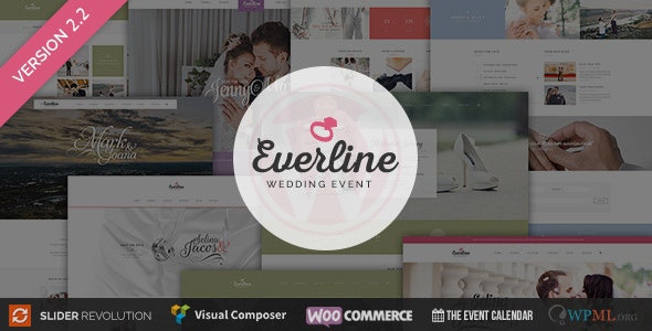 Wedding Event - Everline WordPress Theme - Wedding WordPress