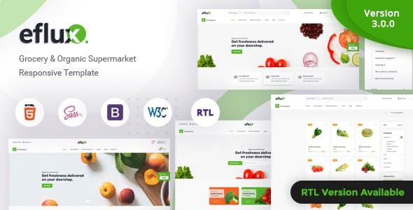 eflux - Grocery & Organic Supermarket Responsive Template
