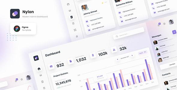 Nylon - Modern Admin Dashboard Figma Template - Miscellaneous Figma