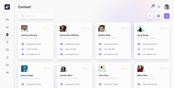 Nylon - Modern Admin Dashboard Figma Template