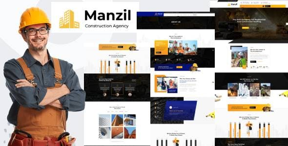 Manzil | Construction and Building  HubSpot Theme
