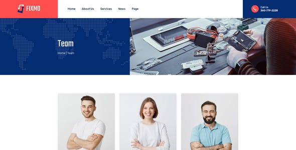 Fixmo – Smartphone, Tablet & Computer Repair XD Template