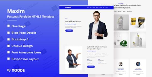 Maxim - Onepage Portfolio HTML5 Template