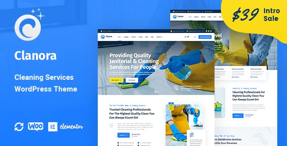 Clanora - Cleaning Services WordPress Theme - Business Corporate