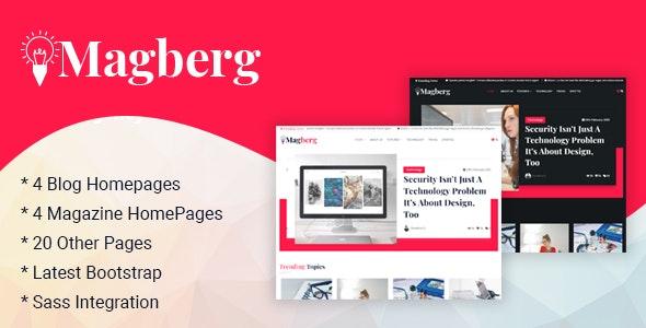 Magberg - Blog & Magazine HTML Template - Creative Site Templates