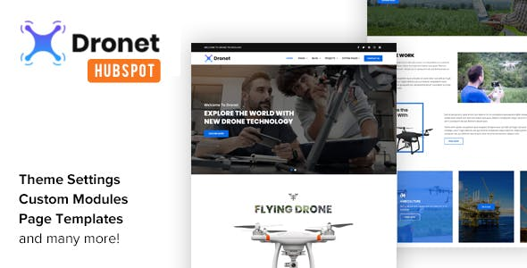 Dronet - Drone & UAV Business HubSpot Theme