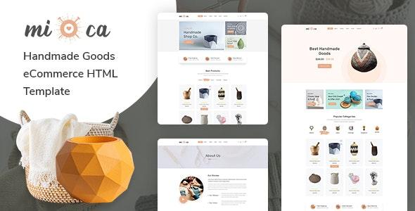 Mioca - Handmade Goods eCommerce HTML Template - Shopping Retail