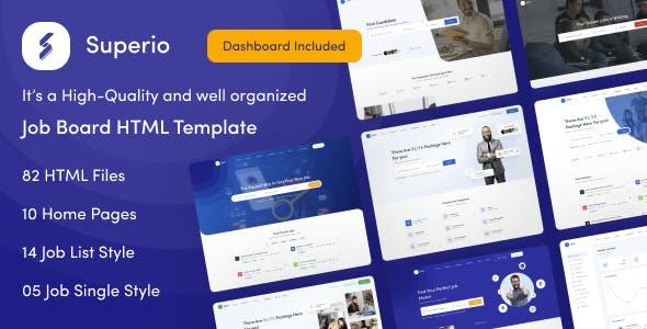 Superio - Job Board HTML Template