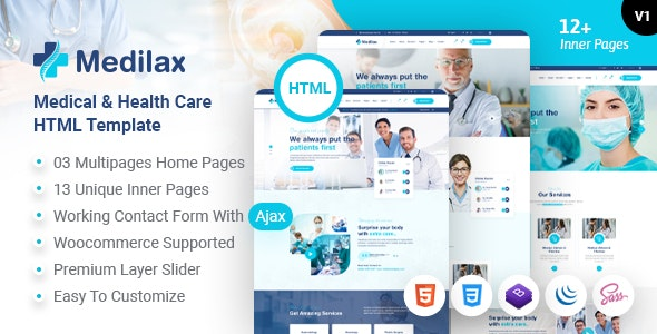 Medilax - Medical and Health Care HTML Template - Health & Beauty Retail