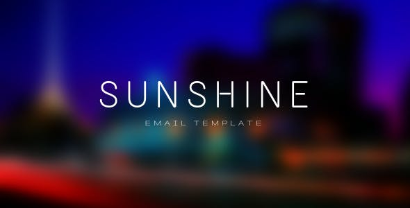 Sunshine - Multipurpose Email Template for Mailster