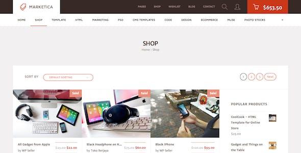 Marketica - eCommerce and Marketplace - WooCommerce WordPress Theme