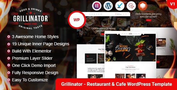 Grillinator - Food Restaurant Cafe Bar Grill & Bistro WordPress Theme
