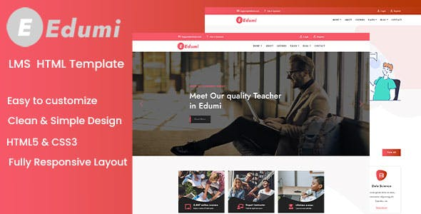 Edumi - Education And LMS HTML Template