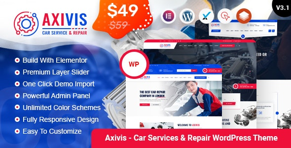 Axivis - Car Services & Repair WordPress Theme - Business Corporate