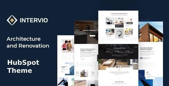 Intervio - Architecture & Interior HubSpot Theme - Corporate HubSpot CMS Hub
