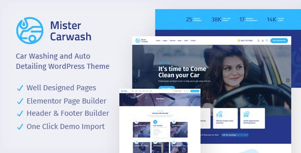 Mister -  Car Wash WordPress Theme