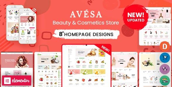 Avesa - Beauty, Cosmetics Store Elementor WooCommerce WordPress Theme (08+ Indexes + Mobile Layout)