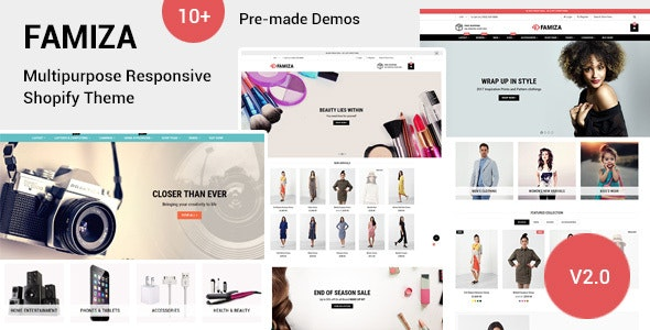 Famiza - Multipurpose Shopify Sections Theme - Shopify eCommerce