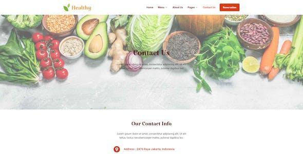 Healthy Restaurant  Elementor Template Kit