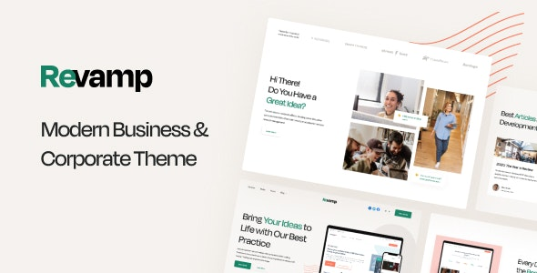 Revamp - Modern Business & Corporate Theme - Corporate HubSpot CMS Hub