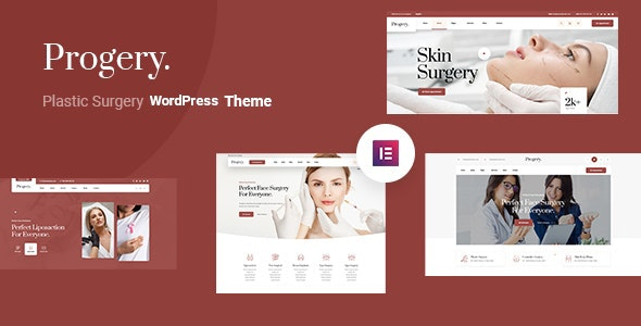 Progery – Plastic Surgery WordPress Theme - Health & Beauty Retail