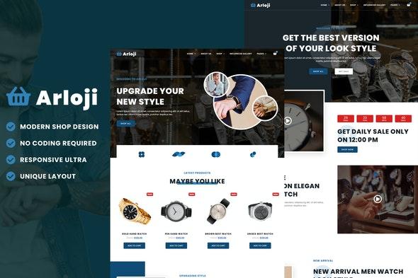 Arloji - Modern Hand Watch Shop eCommerce Elementor Template Kit - Shopping & eCommerce Elementor