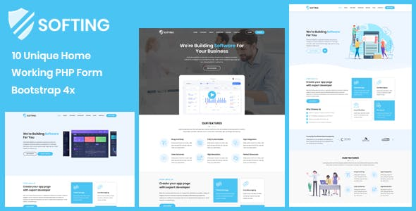 Softing - Software Landing Page