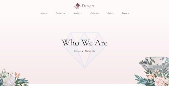Demera | Jewelry Elementor Template Kit