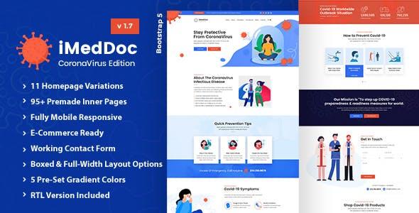 iMedDoc: Medical Center, Health and Wellness HTML5 Template
