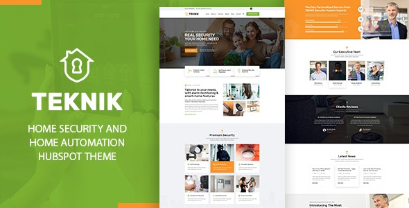 Teknik - Security and Home Automation Hubspot Theme - HubSpot CMS Hub CMS Themes