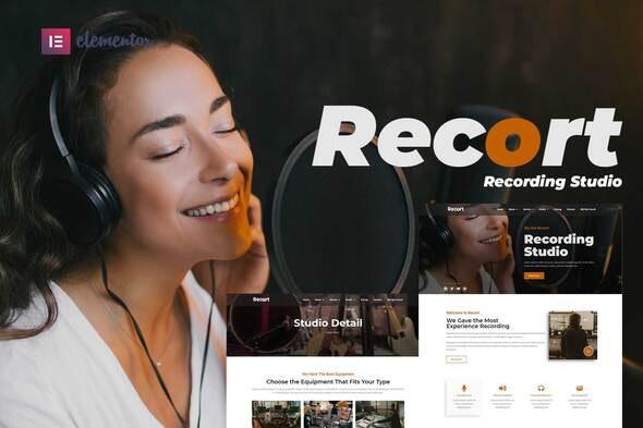Recort - Recording Studio Elementor Template Kit - Music & Bands Elementor