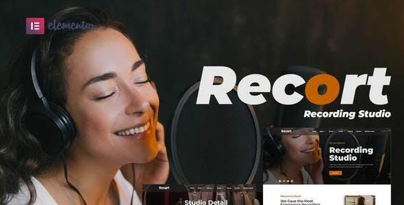 Recort - Recording Studio Elementor Template Kit