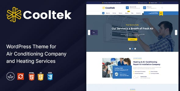 CoolTek - Air Conditioning Services WordPress Theme