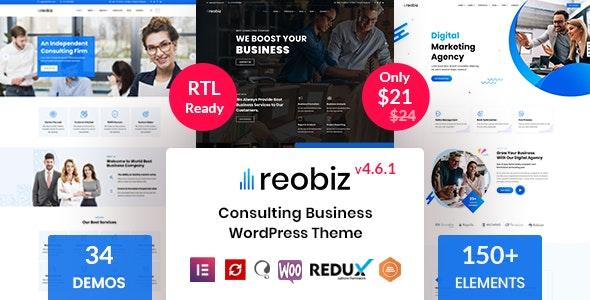 Reobiz - Consulting Business WordPress Theme - Business Corporate