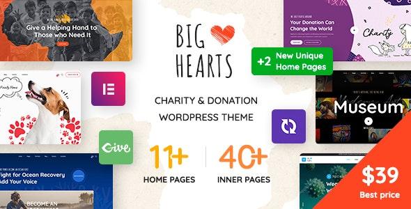 BigHearts v1.0.13 – Charity & Donation WordPress Theme