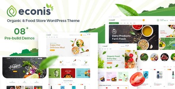Econis v1.0.3 – Organic & Food Store WordPress Theme